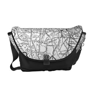 Vintage Map of London England (1911) Courier Bags
