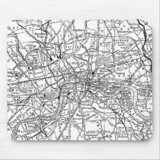 Vintage Map of London England (1911) Mouse Pad