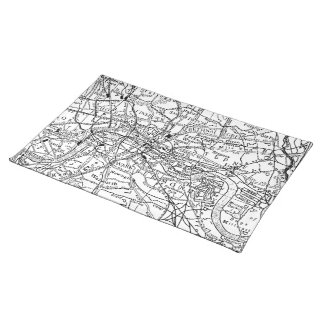 Vintage Map of London England (1911) Placemat