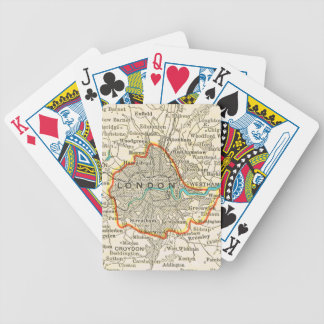 Vintage Map of LONDON ENGLAND Playing Cards