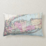 Vintage Map of Long Island (1880) Throw Pillows