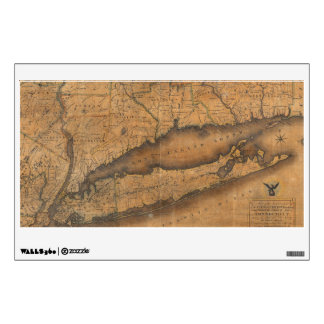 Vintage Map of Long Island and Connecticut (1815) Wall Decal