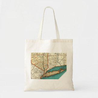 Vintage Map of LONG ISLAND & MANHATTAN NYC Bag