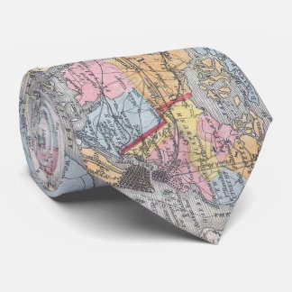 Vintage Map of Long Island New York (1857) Neck Tie
