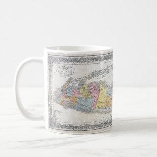 Vintage Map of Long Island New York Coffee Mug