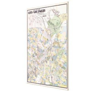 Vintage Map of Los Angeles CA (1884) Canvas Print