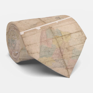 Vintage Map of Loudoun County Virginia (1861) Neck Tie