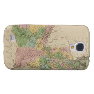 Vintage Map of Louisiana (1838) Samsung Galaxy S4 Cover
