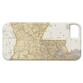 Vintage Map of Louisiana (1845) iPhone 5 Cover