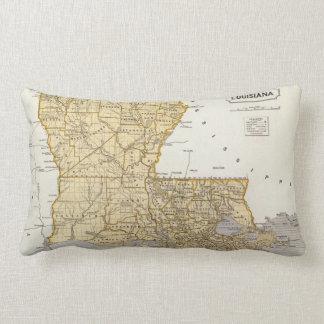 Vintage Map of Louisiana (1845) Lumbar Pillow