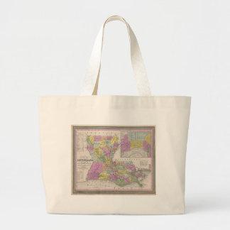 Vintage Map of Louisiana (1853) Tote Bag