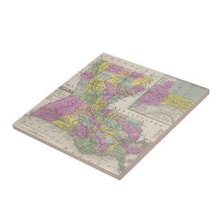 Vintage Map of Louisiana (1853) Ceramic Tile
