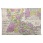 Vintage Map of Louisiana (1853) Cloth Placemat
