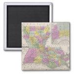 Vintage Map of Louisiana (1853) Fridge Magnet
