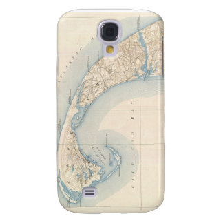 Vintage Map of Lower Cape Cod Samsung Galaxy S4 Covers