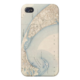 Vintage Map of Lower Cape Cod iPhone 4 Case