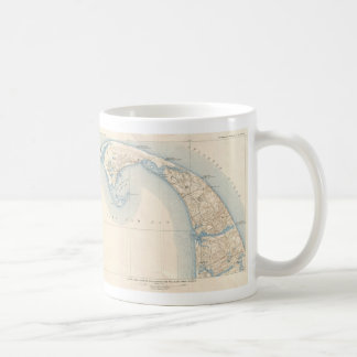 Vintage Map of Lower Cape Cod Mug