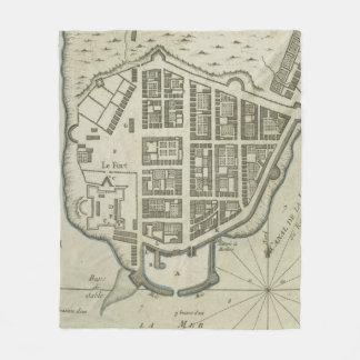 Vintage Map of Lower Manhattan (1764) Fleece Blanket