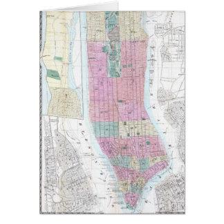 Vintage Map of Lower Manhattan (1865) Card