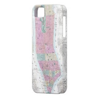 Vintage Map of Lower Manhattan (1865) iPhone 5 Cases