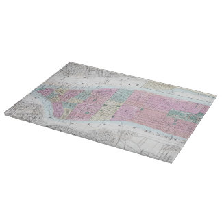 Vintage Map of Lower Manhattan (1865) Cutting Board