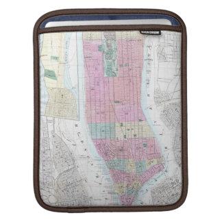 Vintage Map of Lower Manhattan 1865 iPad Sleeve