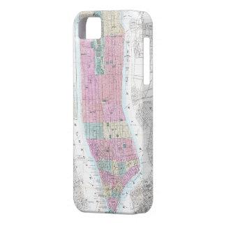 Vintage Map of Lower Manhattan (1865) iPhone SE/5/5s Case