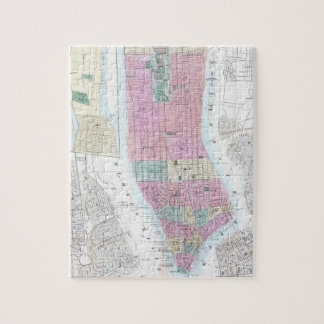 Vintage Map of Lower Manhattan (1865) Jigsaw Puzzle