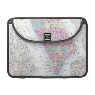 Vintage Map of Lower Manhattan 1865 Sleeve For MacBook Pro