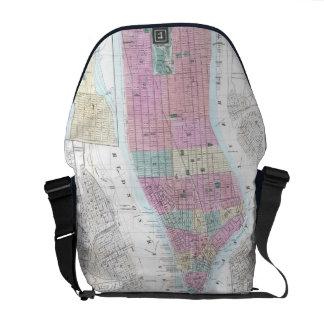 Vintage Map of Lower Manhattan (1865) Messenger Bag
