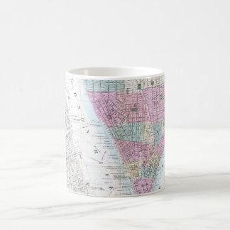 Vintage Map of Lower Manhattan (1865) Coffee Mug