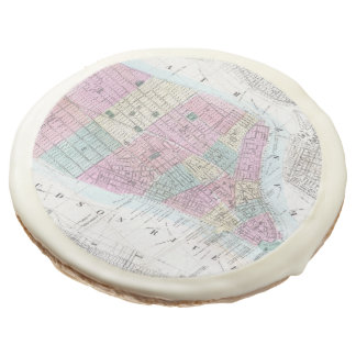 Vintage Map of Lower Manhattan (1865) Sugar Cookie