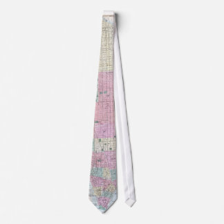 Vintage Map of Lower Manhattan (1865) Tie