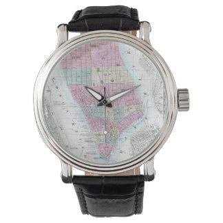 Vintage Map of Lower Manhattan (1865) Wristwatch