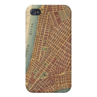 Vintage Map of Lower New York City (1807) Cases For iPhone 4