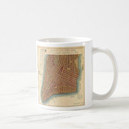 Vintage Map of Lower New York City (1807) Mug