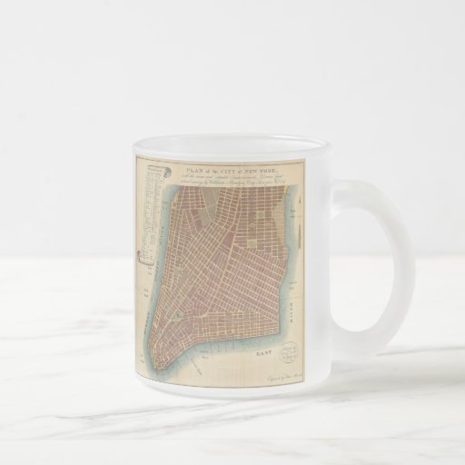 Vintage Map of Lower New York City (1807) Coffee Mugs