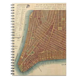 Vintage Map of Lower New York City (1807) Notebook