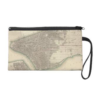 Vintage Map of Lower New York City (1840) Wristlet