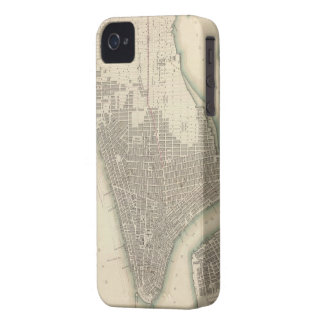 Vintage Map of Lower New York City (1840) Case-Mate iPhone 4 Case