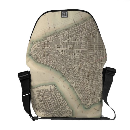 Vintage Map of Lower New York City (1840) Courier Bag