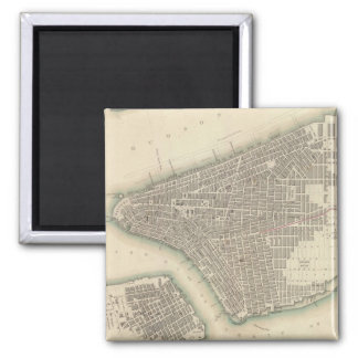 Vintage Map of Lower New York City (1840) Magnet