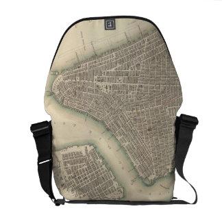 Vintage Map of Lower New York City (1840) Messenger Bag