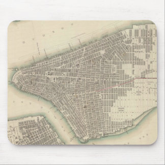 Vintage Map of Lower New York City (1840) Mouse Pad