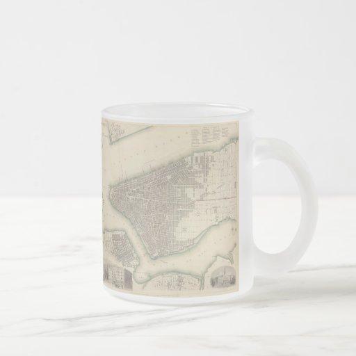 Vintage Map of Lower New York City (1840) Mugs