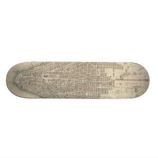 Vintage Map of Lower New York City (1840) Skateboard Deck