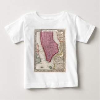 Vintage Map of Lower New York City (1860) Baby T-Shirt