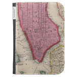 Vintage Map of Lower New York City (1860) Kindle Cover