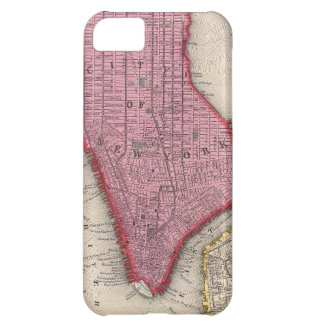 Vintage Map of Lower New York City (1860) iPhone 5C Cover