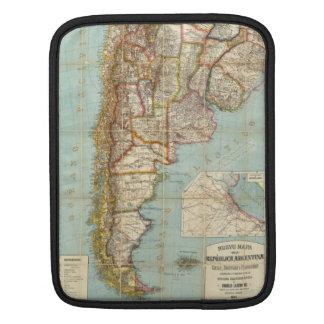 Vintage Map of Lower South America (1914) iPad Sleeves